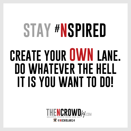 Create Your Own Lane